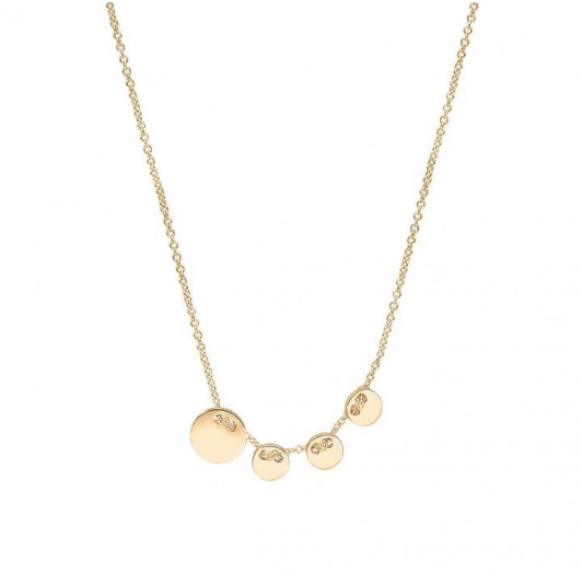 Small buttons chain necklace