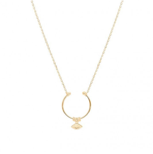 Chain necklace with open ring