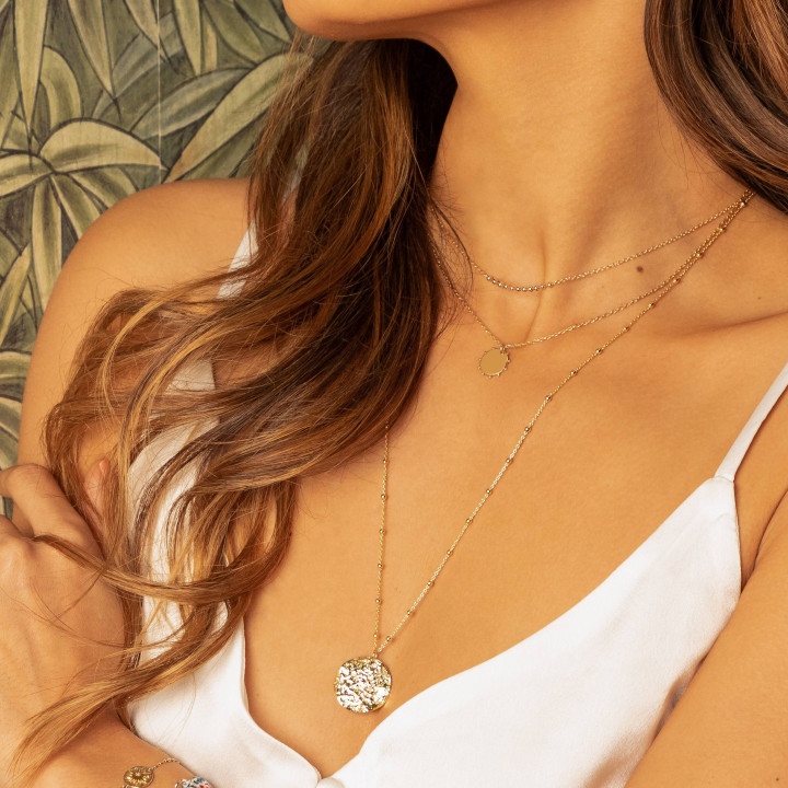 Gold-plated Ael chain necklace