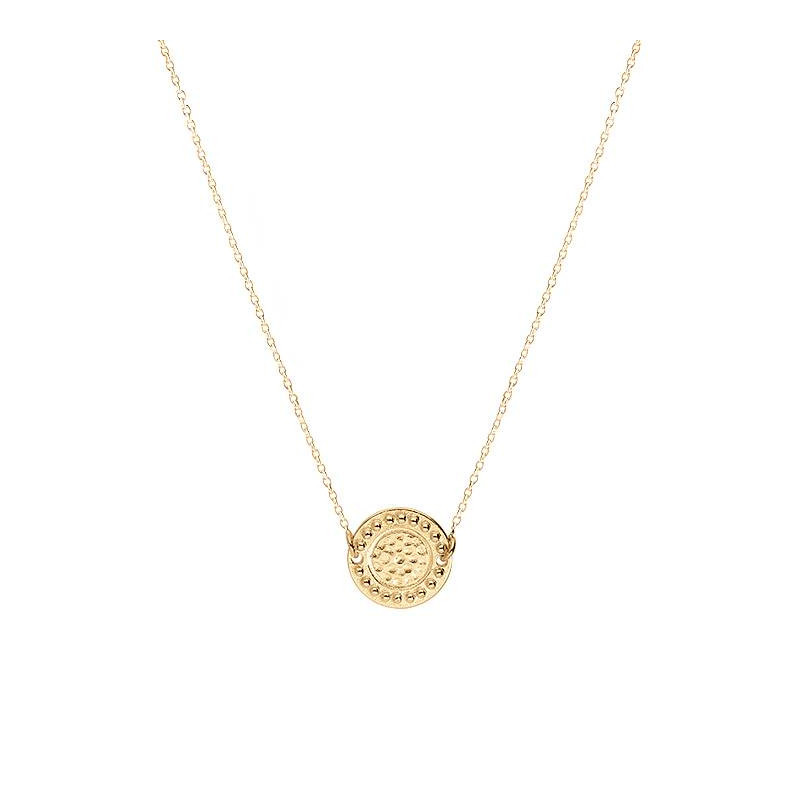Gold-plated Gaïa coin chain necklace