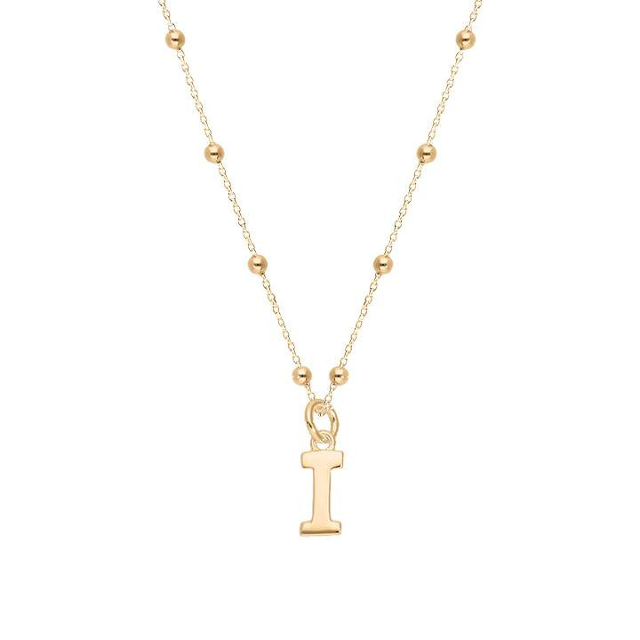 Gold-plated chain bracelet with letter charm