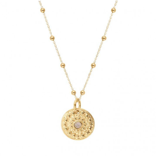 Nova medal beaded chain necklace