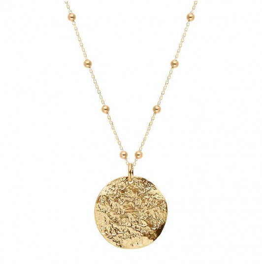 Atlas medal beaded chain necklace