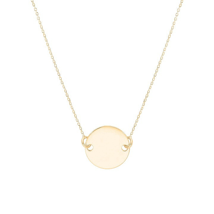 COLLIER CHAINE MÉDAILLE PLATE PLAQUE OR