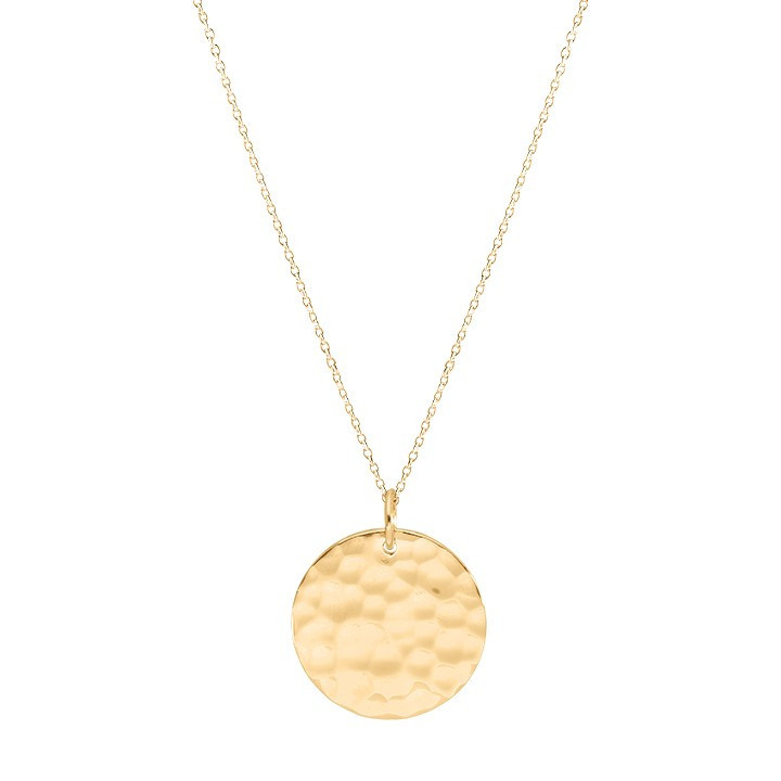 Chain necklace with hammered medal