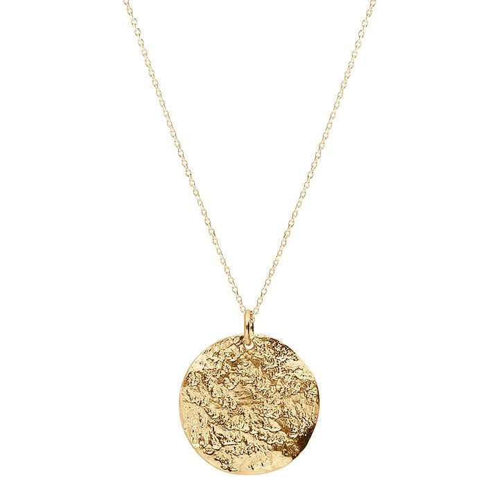 Gold-plated Helios medal chain necklace