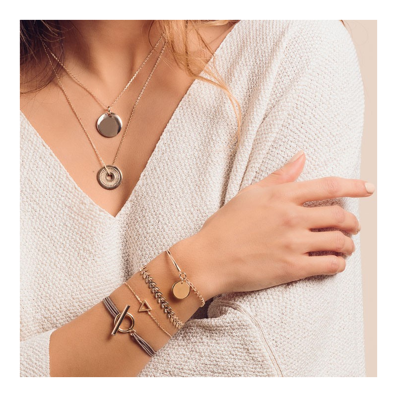 Ethnic target chain necklace