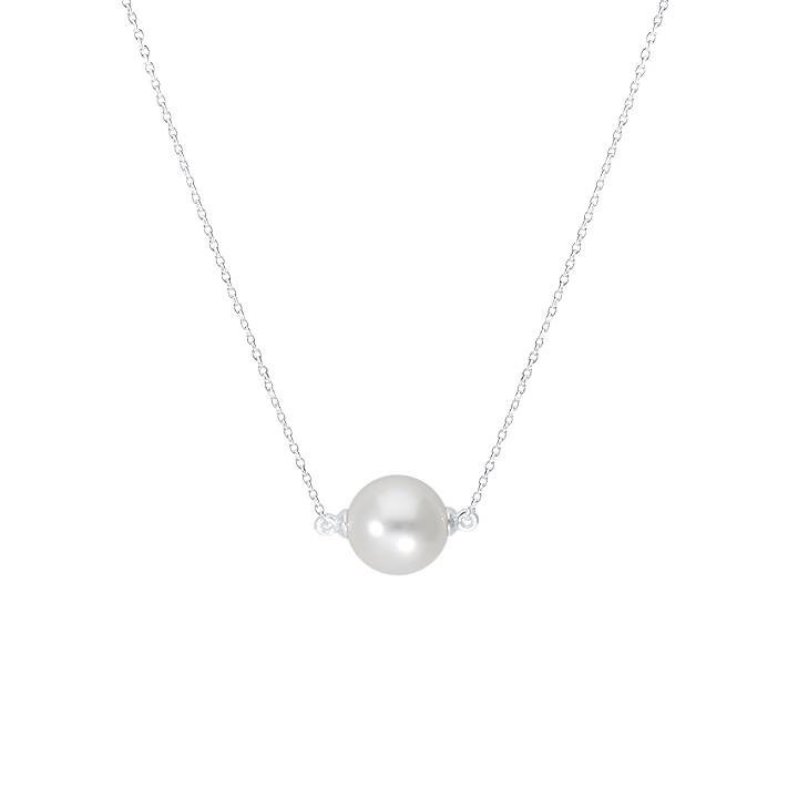 925 Silver pearl pearly chain necklace
