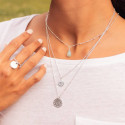 925 Silver Solar medal chain necklace