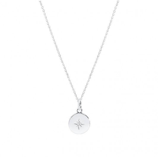 Zircon star chain necklace