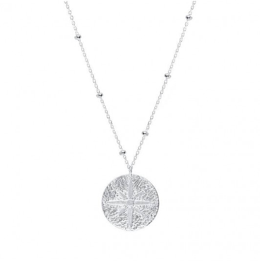 Wind rose beaded chain necklace