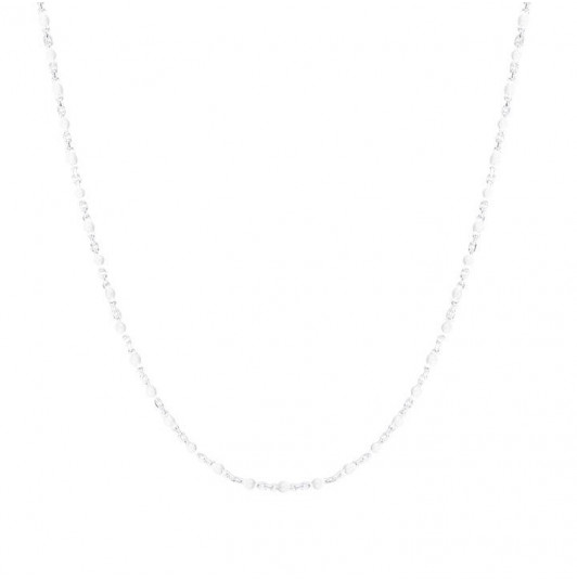 Collier mini perles blanches