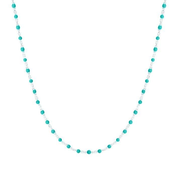 Mini turquoise green beads necklace