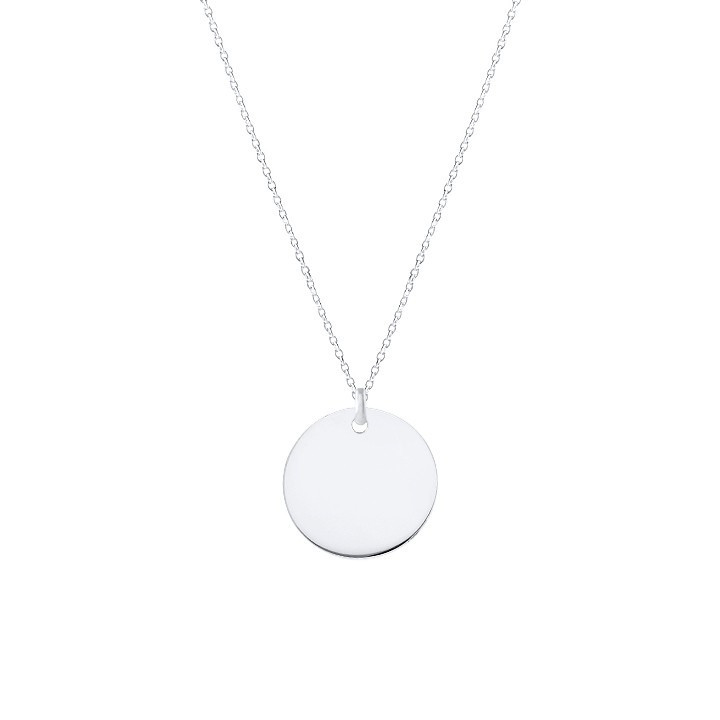 925 Silver flat medal chain necklace