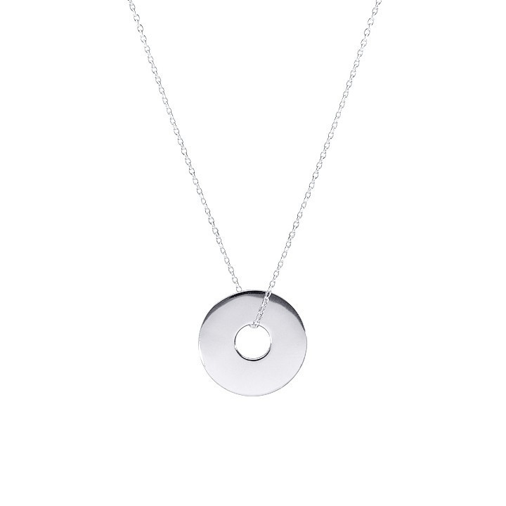 Small target chain necklace