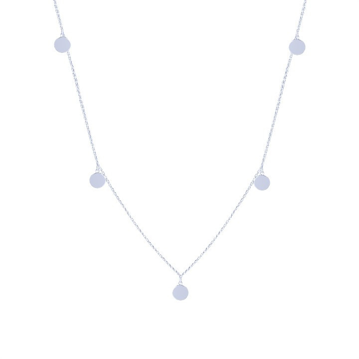Mini medals long necklace