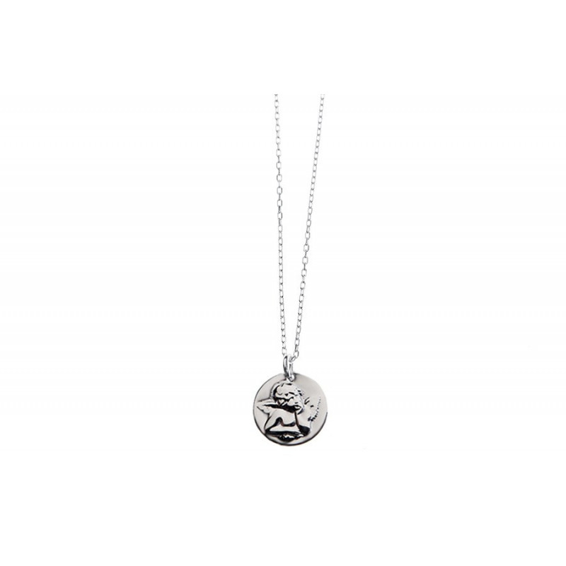 COLLIER CHAINE MÉDAILLE ANGE