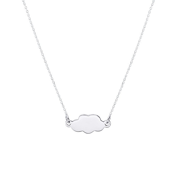 Small cloud chain necklace