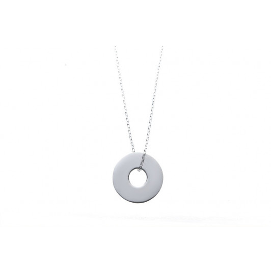 Chain necklace with large target charm