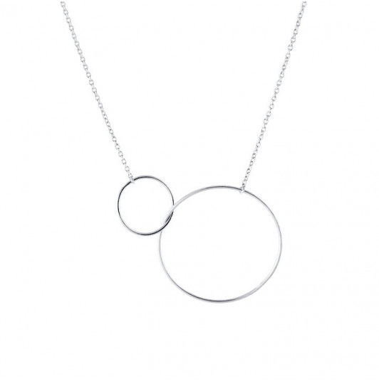 Large model double ring necklace