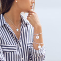 925 Silver ring and medal chain necklace