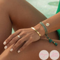 Rose gold-plated white turquoise Calypso chain bracelet