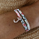 Liberty bracelet with a rose gold-plated letter charm