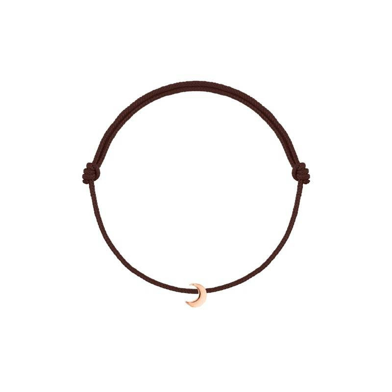 Bracelet cordon mini lune