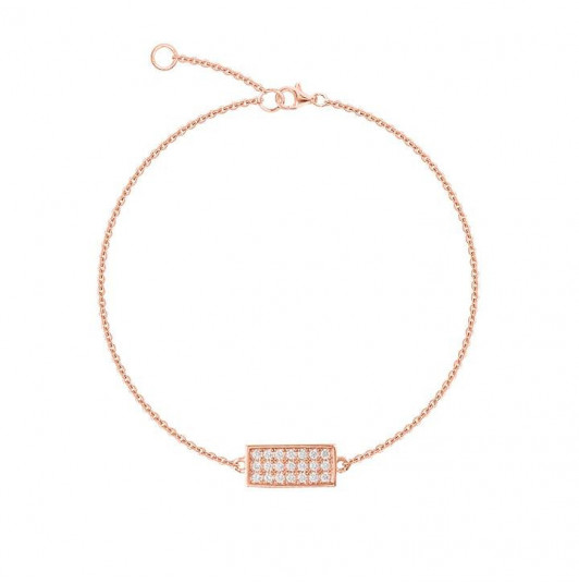 Zircons rectangle chain bracelet