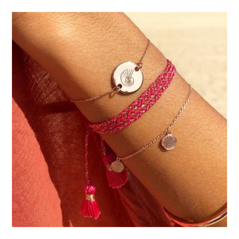Chain bracelet with medal
