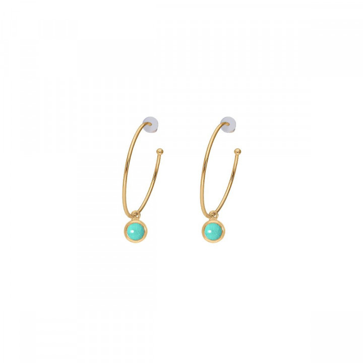 Gold-plated amazonite Thallie earrings