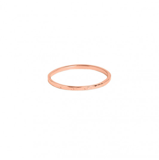 Rose gold-plated hammered band ring