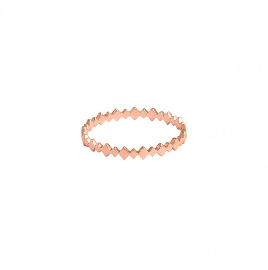 Rose gold-plated multi lozenge ring