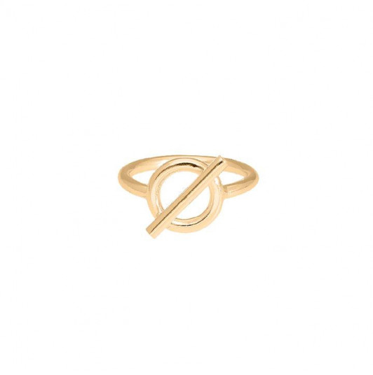 T toggle silver ring