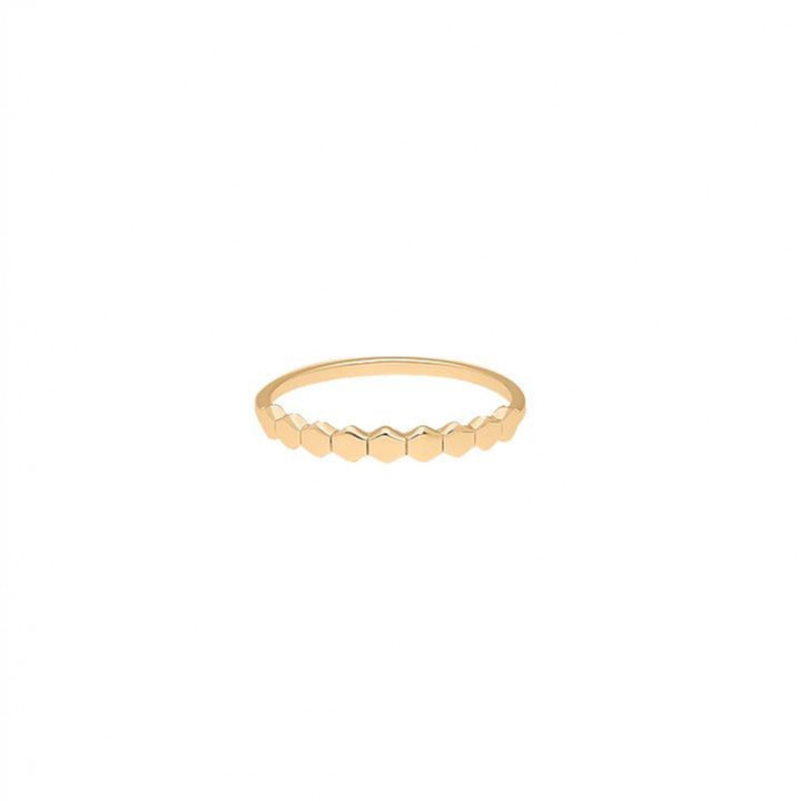 Gold-plated Mosaic ring
