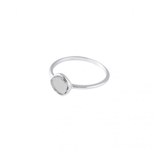 Small grey Moonstone gemstone ring
