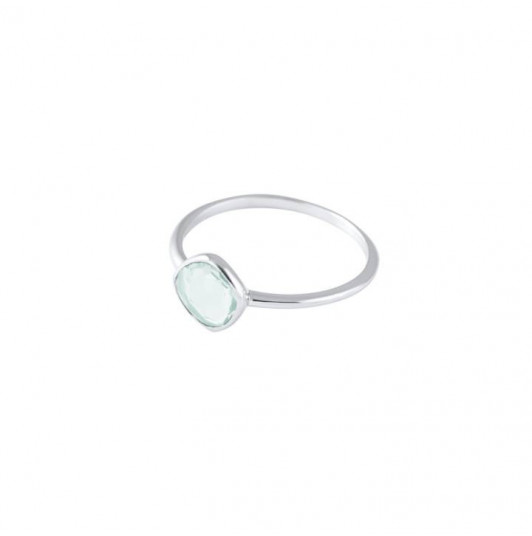 Small chalcedony gemstone ring
