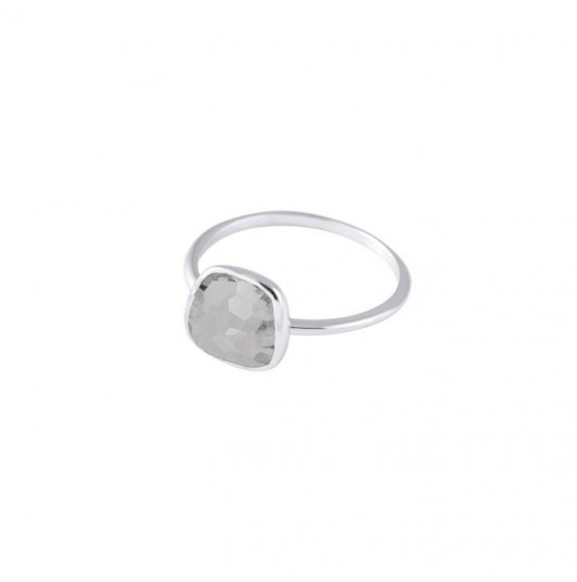 Medium grey Moonstone gemstone ring