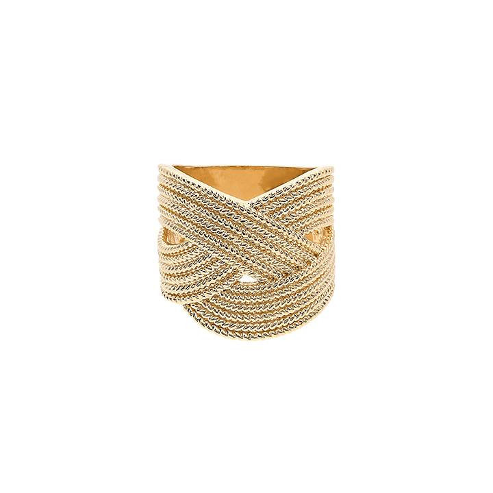 Gold-plated braided ring