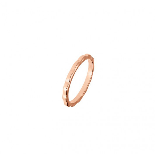 Rose-gold-plated wavy ring