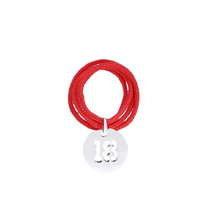 Multiple string ring with perforated number medal