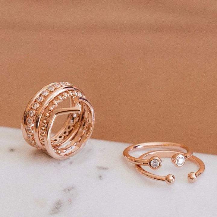 Gold-plated open ring