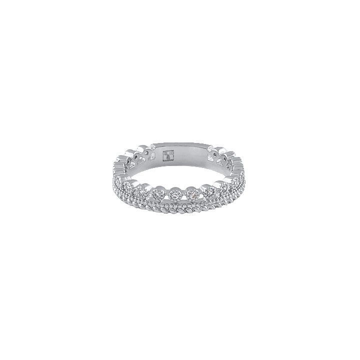 925 Silver crown ring with zircons