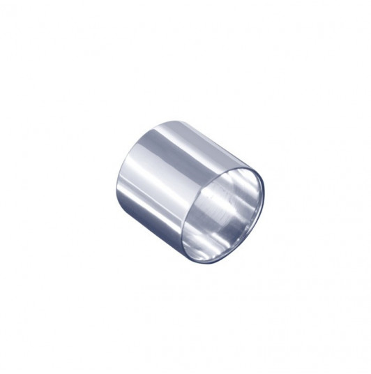 Smooth silver tube ring