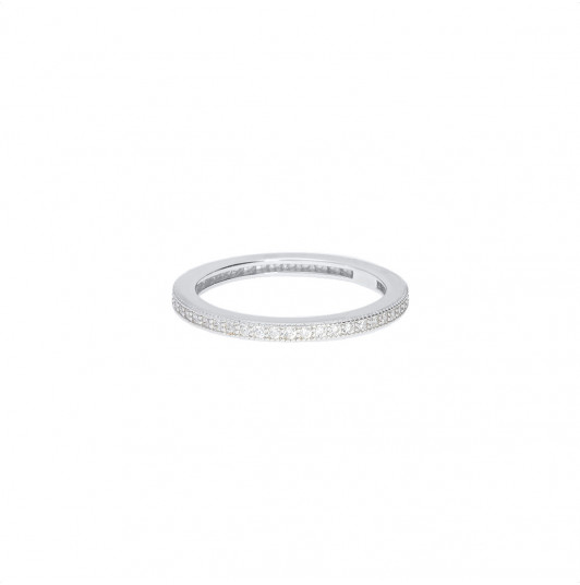 Zircon band ring