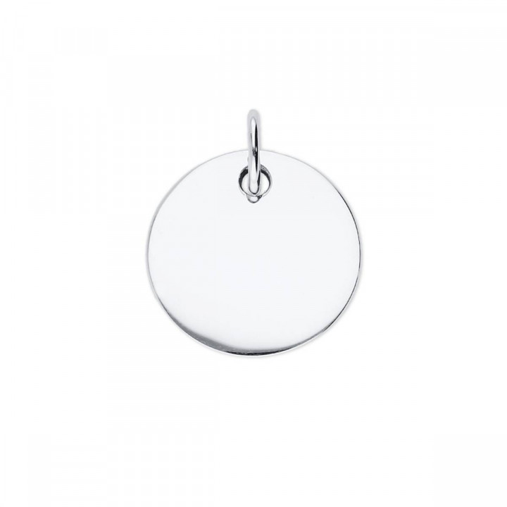 925 Silver large flat medal