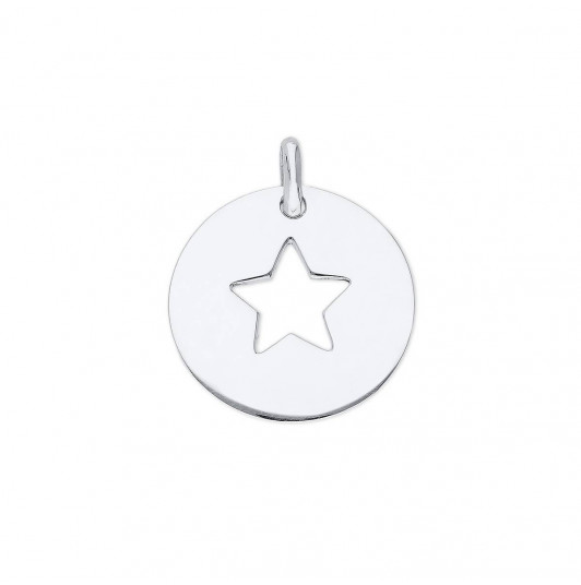 Large hollowed star medal