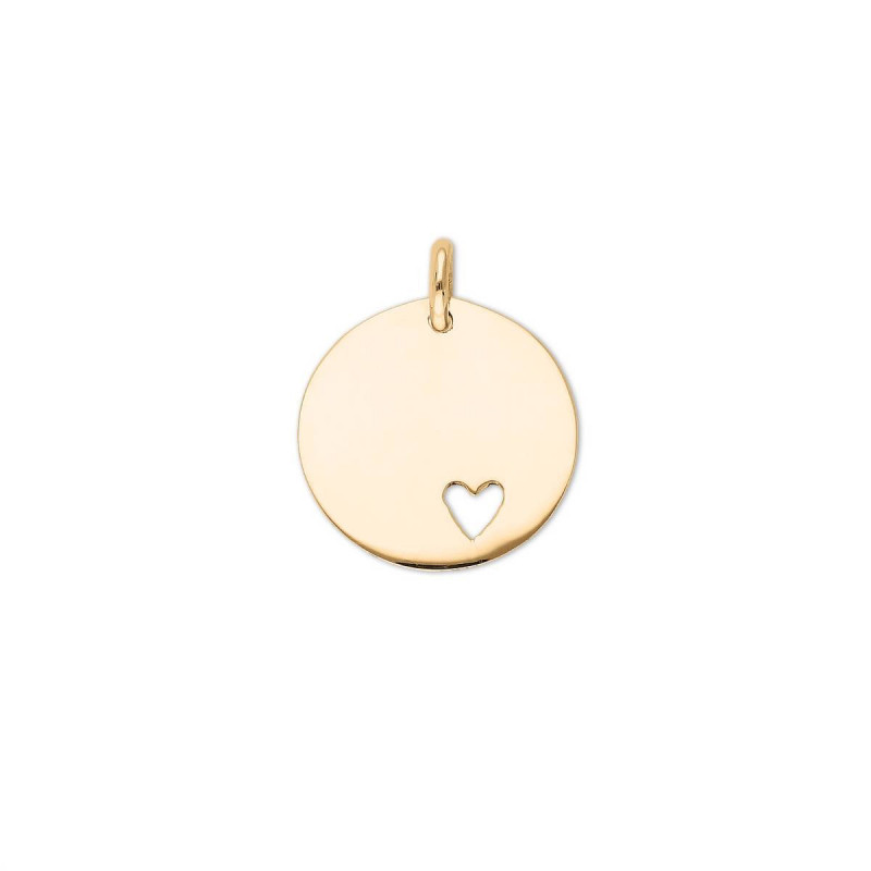 925 Silver hollowed heart medal