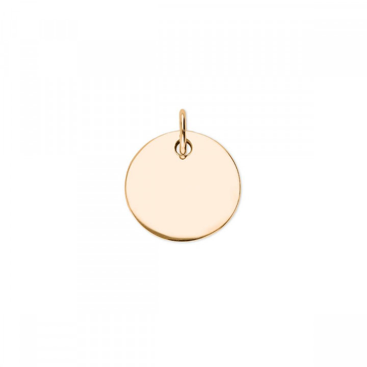 Flat gold-plated medal
