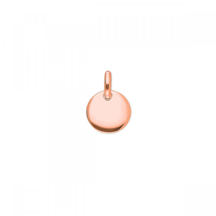 Little curved rose gold-plated medal
